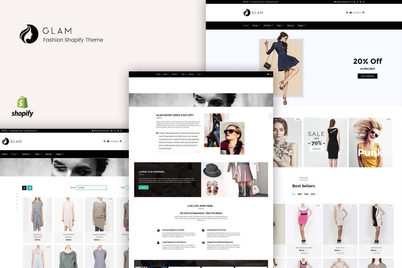 Download Glam – Fashion Shopify Theme 2018-03-09 Nulled