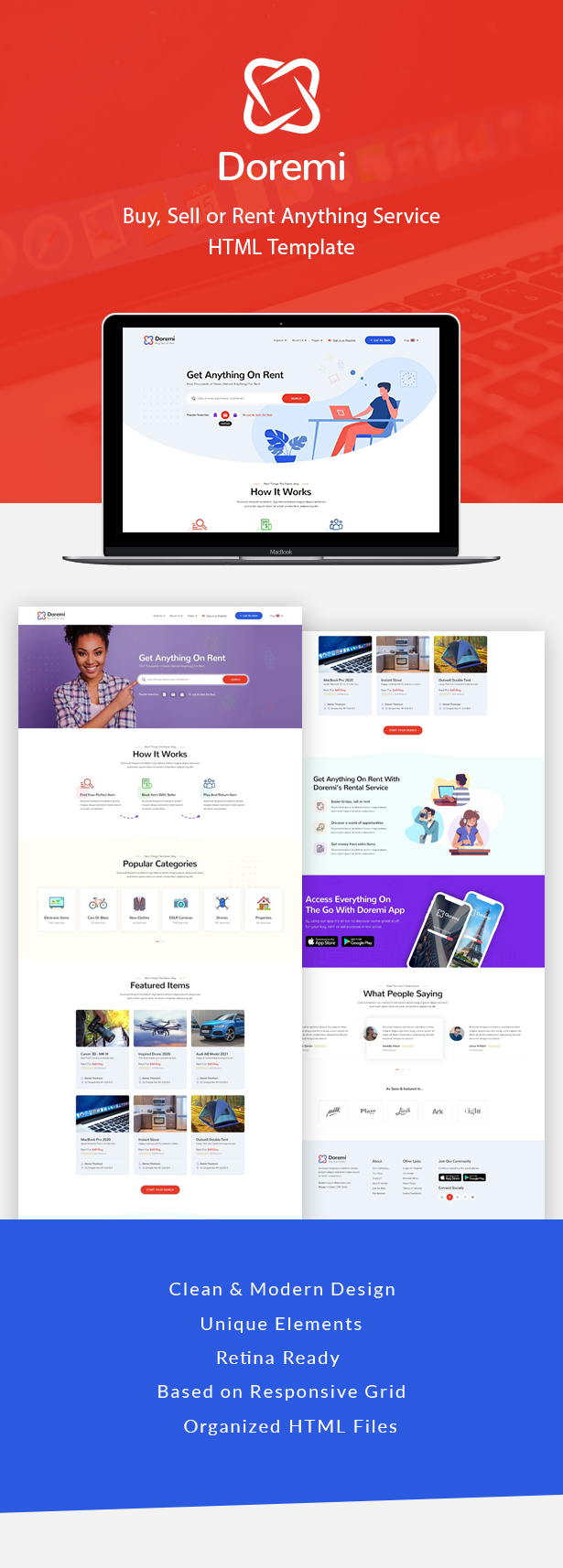 Doremi - Rent Anything HTML Template 1.0