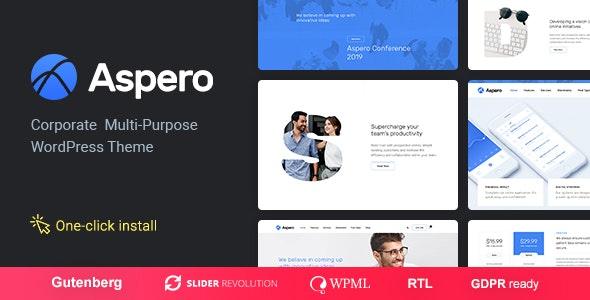 Download Aspero – Business WordPress Theme v1.0.3 Nulled