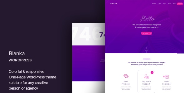 Download Blanka – One Page WordPress Theme v1.3 Nulled