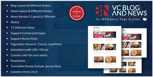 Download Blog and News Addons for WPBakery Page Builder…
