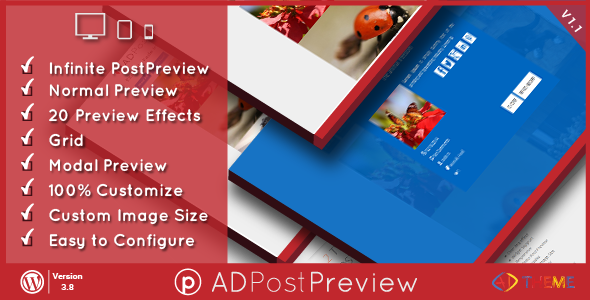 Download AD Post Preview WordPress Plugin v1.1 Nulled