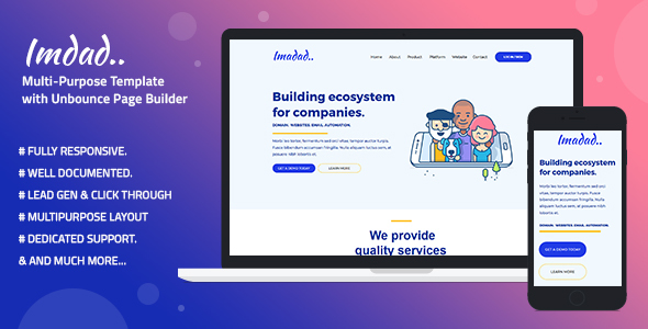 Imadad - Multi-Purpose Template with Unbounce Page Builder.jpg