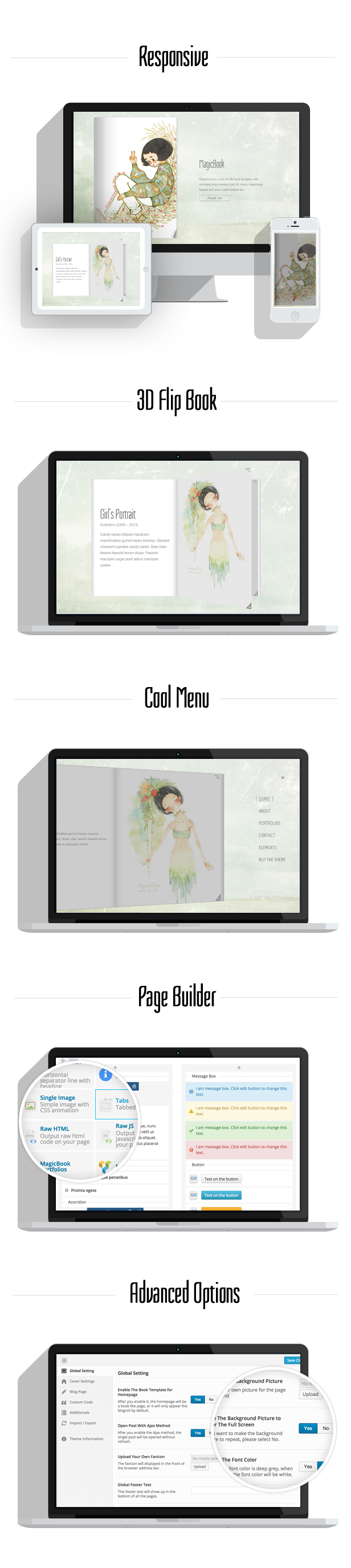 MagicBook - A 3D Flip Book WordPress Theme V1.2.5