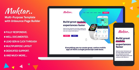 Muktar - Multi-Purpose Template with Unbounce Page Builder.jpg