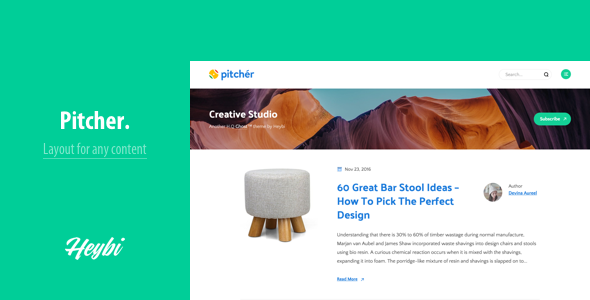 Pitcher Blog Theme for Startup.png