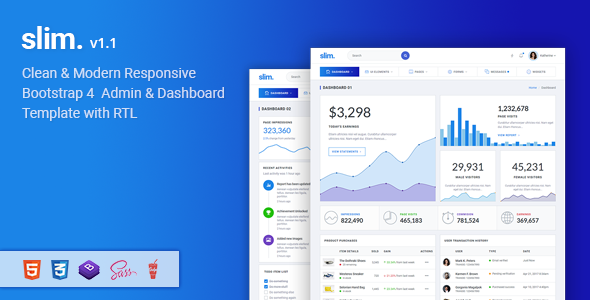 Slim - Modern & Clean Responsive Bootstrap 4 Admin Dashboard Template.png