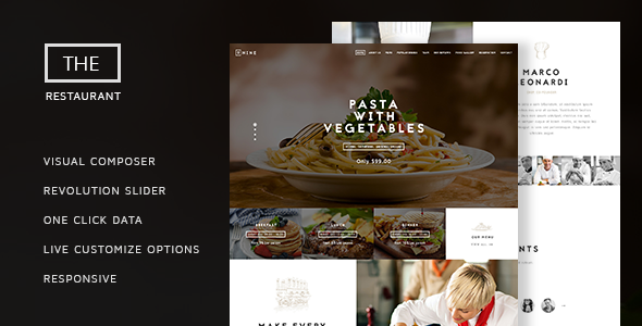 The Restaurant - Restauranteur and Catering One Page Theme.png