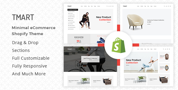 Download Tmart – Minimalist Shopify Theme v1.4 Nulled