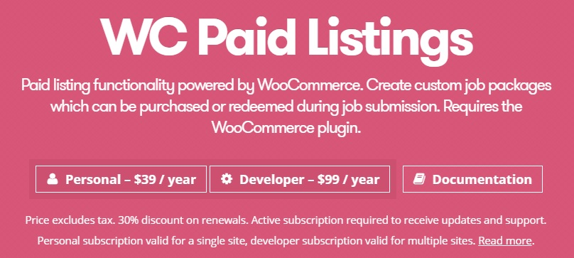 Download WP Job Manager WC Paid Listings Add-on v2.8.3…